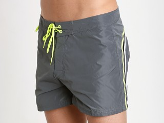 "Sundek 14"" Poly Stretch Swim Trunk Medium Grey #2"