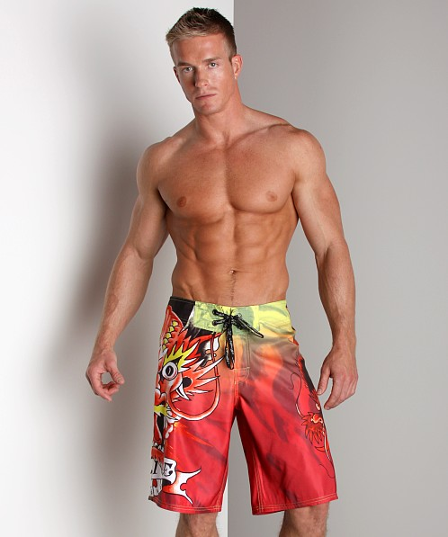Ed Hardy Alive Boardshorts Red