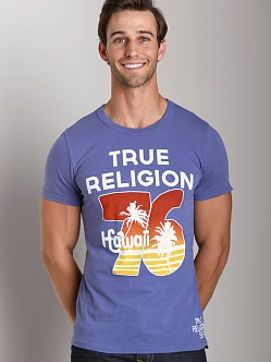 True Religion Hawaii 76 T-Shirt Ocean Blue