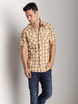 True Religion Rocky Plaid Shirt Marigold