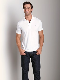 True Religion Pique Polo Shirt White