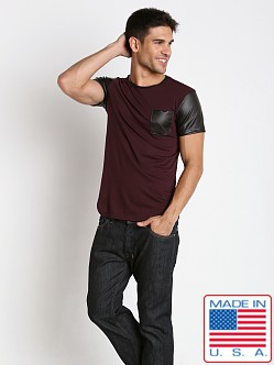 Timoteo Brooklyn Crew Neck Tee Wine