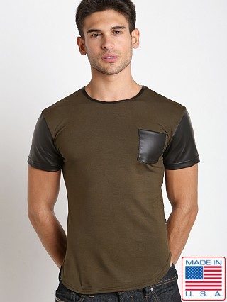 Timoteo Brooklyn Crew Neck Tee Olive