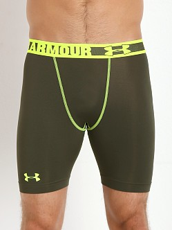 Under Armour HeatGear Sonic Compression Short Rifle Green