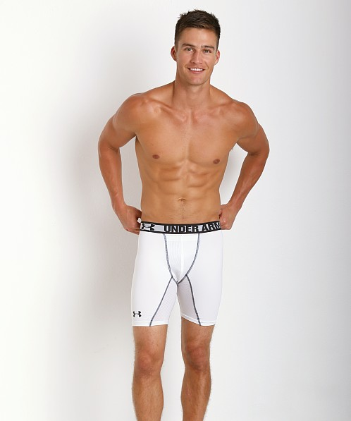 Under Armour HeatGear Sonic Cup Compression Short White