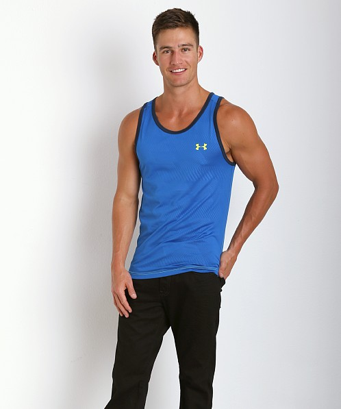 Under Armour Tech Tanktop Scatter Blue