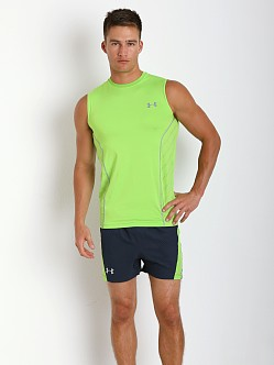 Under Armour Heatgear Sonic Armourvent Sleeveless Tee Gecko Gree