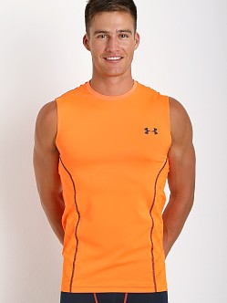 Under Armour Heatgear Sonic Armourvent Sleeveless Tee Blaze Oran