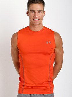 Under Armour Heatgear Sonic Armourvent Sleeveless Tee Volcano Re