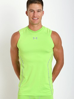 Under Armour Heatgear Sonic Fitted Tank Top Gecko Green
