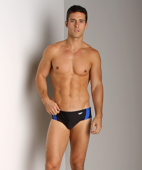 Speedo Rapid Splice Swim Brief Black/Blue