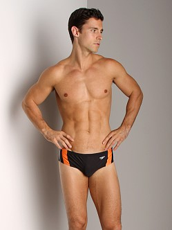 Speedo Rapid Splice Swim Brief Black/Orange