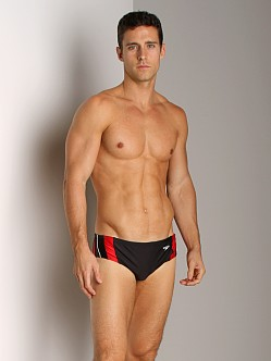 Speedo Rapid Splice Swim Brief Black/Red