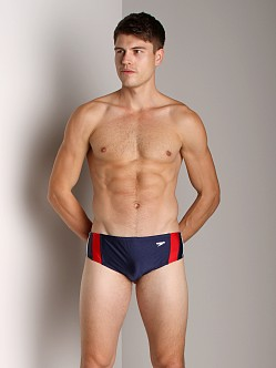 Speedo Rapid Splice Swim Brief Navy/Red