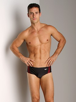 Speedo Rapid Splice Swim Brief Black/Maroon