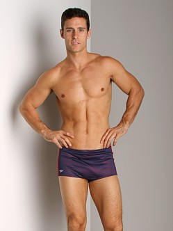 Speedo Poly Mesh Square Leg Navy/Red