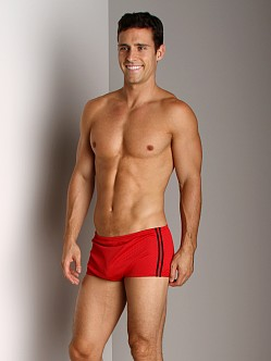 Speedo Poly Mesh Square Leg Red