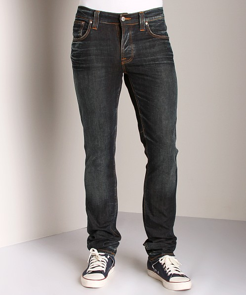 Nudie Jeans Grim Tim Used Brown Weft