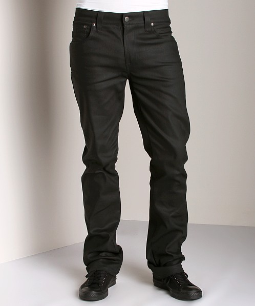 Nudie Jeans Slim Jim Dry Black Coated
