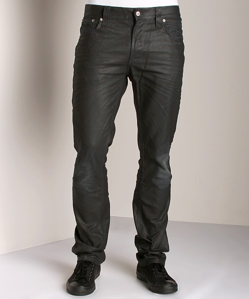 Nudie Jeans Thin Finn Black Coated Indigo