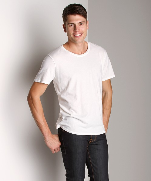 Nudie Jeans Round Neck T-Shirt Off White