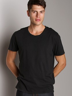 Nudie Jeans Round Neck T-Shirt Black