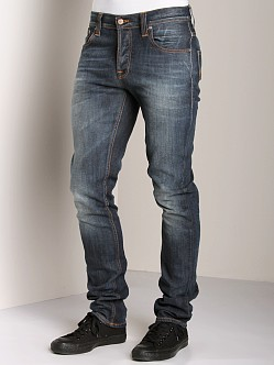 Nudie Jeans Grim Tim Org White Knee