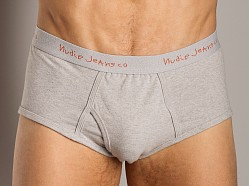 Nudie Jeans Organic Cotton Briefs Grey