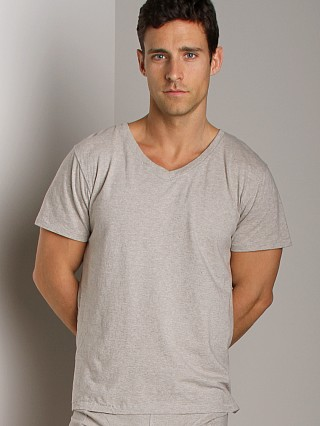 Nudie Jeans Organic Cotton V-Neck Shirt Grey