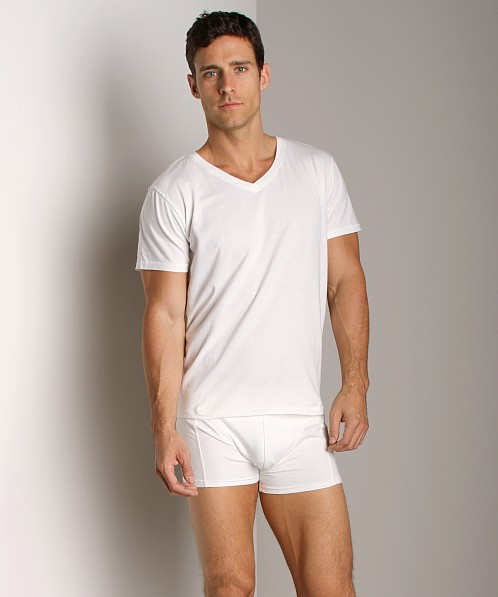 Nudie Jeans Organic Cotton V-Neck Shirt Offwhite
