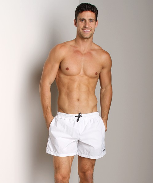 Emporio Armani Techno Swim Shorts White
