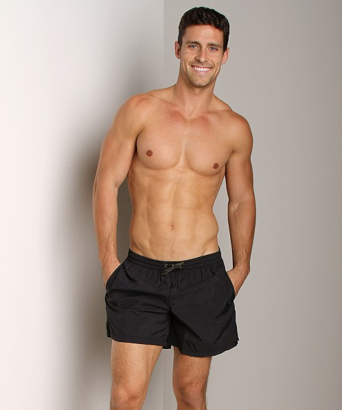 Emporio Armani Techno Swim Shorts Black
