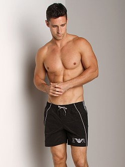 Emporio Armani Seven Stripes Techno Swim Shorts Black