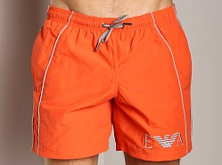 Emporio Armani Seven Stripes Techno Swim Shorts Orange