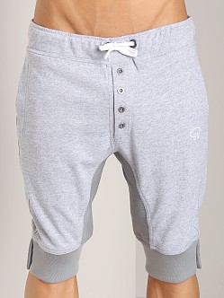 James Tudor Eaton Button Fly Sweat Short Heather Grey