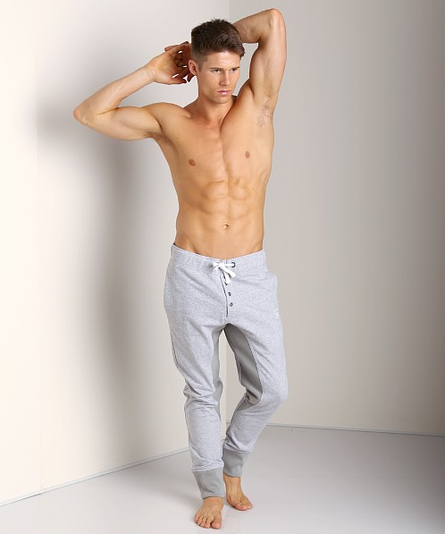 James Tudor Eaton Button Fly Sweatpant Heather Grey