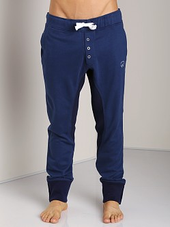 James Tudor Eaton Button Fly Sweatpant Navy