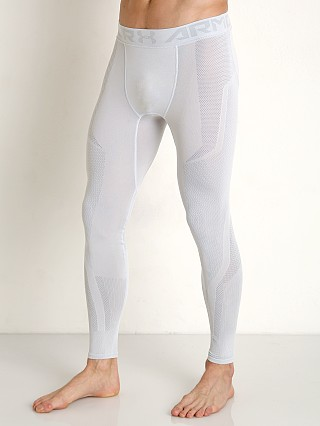 Under Armour Threadborne Seamless Leggings White/Overcast Gray