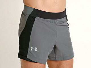 Under Armour Qualifier Speedpocket 5'' Running Short Pitch Gray/