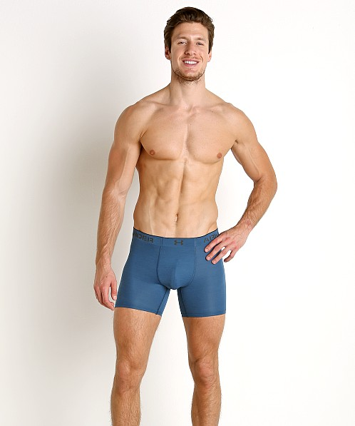 "Under Armour Armourvent Mesh 6"" Boxerjock Blue Light Heather/Bla"