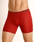 "Under Armour Armourvent Mesh 6"" Boxerjock Red Heather/Black, view 3"