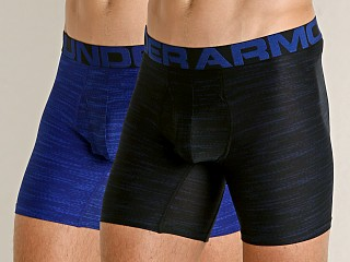 "Under Armour Mesh Pouch Tech 6"" Boxerjock 2-Pack Royal/Academy"