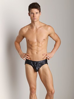 California Muscle Leatherette Slammer Jock Black