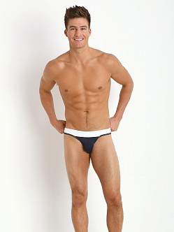 Tulio Slinky Power Pouch 3-Way Jock Thong Navy/Grey/White