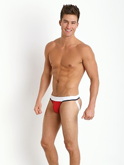 Tulio Slinky Power Pouch 3-Way Jock Thong Red/Navy/White
