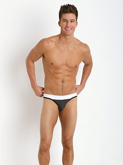 Tulio Slinky Power Pouch 3-Way Jock Thong Grey/Black/White