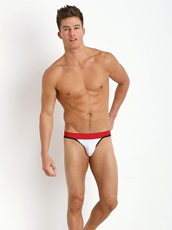 Tulio Slinky Power Pouch 3-Way Jock Thong White/Black/Red