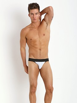 Tulio Stretch Mesh Power Pouch 3-Way Jock Thong White/Black