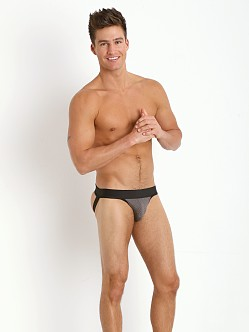 Tulio Stretch Mesh Power Pouch 3-Way Jock Thong Grey/Black