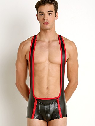 Cell Block 13 Octane Codpiece Zipper Singlet Red